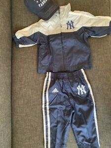 New York Yankees Adidas baby jacket pants cap set(0~3mon)