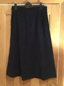 TOAST Blue Corduroy Skirt - Size