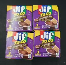Jif To Go Chocolate Silk Peanut Butter Chocolate Flavored Spread Lot of 4 boxes