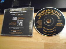 RARE PROMO Jeff Healey CD single How Long Can A Man Be Strong HELL TO PAY blues