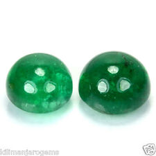 4.11 Cts DAZZLING NATURAL GREEN EMERALD ZAMBIA 2 PCS
