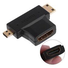 3 In 1 Convertidor Micro / Mini Hombre A Hembra De HDMI Adaptador De Cable