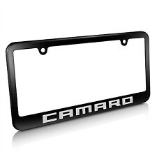 Chevrolet Camaro Metal License Plate Frame Matte Black Finish