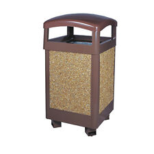 TRASH CAN Outdoor Dustbin Hotel Commerical Grade SAND Powder Coated  * NEW