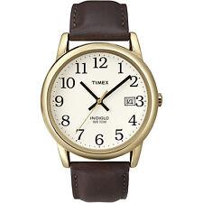 Timex T2N3699J Men's Easy Reader Brown Leather Strap Watch