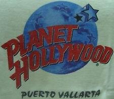 Planet Hollywood PUERTO VALLARTA PH Globe Logo on White Tee T-SHIRT Large Lg