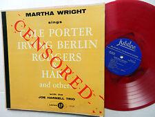 MARTHA WRIGHT sings LP Cole PORTER etc RED VINYL Censored JOE HARNELL TRIO
