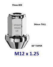 M12 x 1.25 19mm BRACE HEX 60° tap CHAMFERED CLOSED ALLOY WHEEL NUT SUZUKI P1 STI