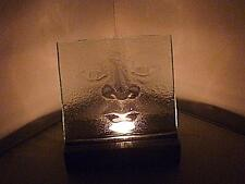 STUNNING UNUSUAL CLEAR GLASS FACE HEAD TEALIGHT CANDLE HOLDER NORDIC ?