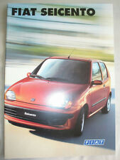 Fiat Seicento range brochure Mar 1998 French text