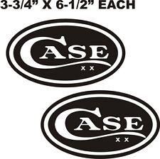 """CASE TRACTOR VINYL DECAL - STICKER 3 3/4"""" X 6 1/2"""" BLACK & WHITE"""