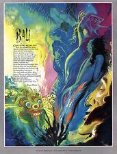 Bali by James Bingham RUPERT BROOKE Gorgeous Illustration 1951 Magazine Page