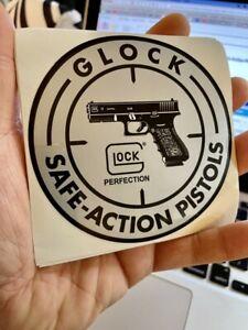 Glock Perfection Sliver Safe Action Pistols Sticker