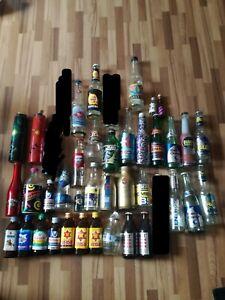 Energy drink Flaschen Auflösung Voll Leer  Glas bottle Purdeys watt bomba tnt