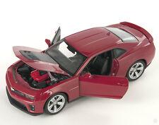 BLITZ VERSAND Chevrolet Chevy Camaro ZL1 rot  red 1:24 Welly Modell Auto NEU OVP