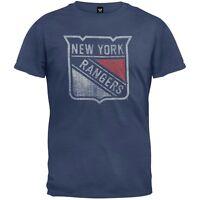 New York Rangers - Logo Scrum Premium Adult Mens T-Shirt