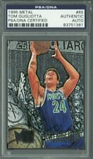 Timberwolves Tom Gugliotta Authentic Signed Card 1995 Metal #65 PSA/DNA Slabbed