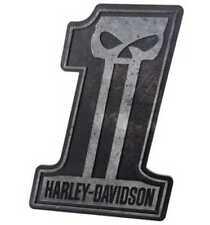 """Harley-Davidson® Dark Custom #1 Sculpted Skull 3-D Pub Sign HDL-15312 (16""""x22"""")"""
