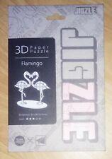 Jigzle 3D Paper Puzzle - Flamingo - Medium Skill Level - Jigsaw - Model