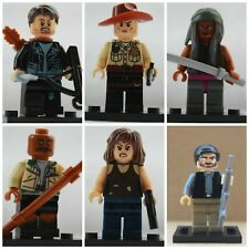 Walking Dead Zombie Horror Michonne,Rick,Daryl, 6 X Mini Figures Use With Lego