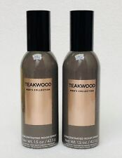 2 Bath & Body Works TEAKWOOD FOR MEN Mini Concentrated Spray Mist Room Perfume
