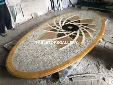 13'x6' Custom Dining Marble Unique Table Top Semi Precious Stone Decorative E147