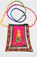 Handicraft Embroidered Multi color Brocket Shoulder Clutch Purse Bag