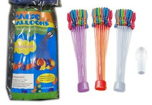Rapid Filling Self-Sealing Magic Water Balloons approx 111 Balloons Pack