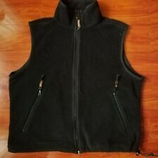 Vintage Embroidered Harley Davidson Fleece Full Zip Vest Size Large Made In USA