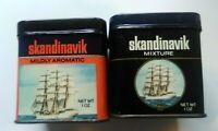 Vintage Tobacco Tins Skandinavik Set of 2 Different Styles