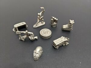 Monopoly NHL Edition - 8 Pewter Tokens Pieces - Replacement Part