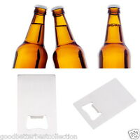 Wallet Size Stainless Steel Credit Card Beer Bottle Opener Business Card Size