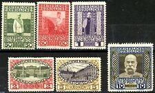 Austria 1908 -1916 Set of 6 Key Issues MLH Scott's 121 122 124 125 126 & 127