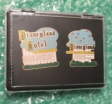 Disney DLR - Cast Exclusive - Disneyland Marquee & Hotel Sign LE (2 Pin Set) MIB