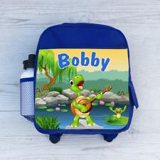 Personalizzata Cartoon Turtle Pond, Ragazzi Bambini Zaino, borsa Scuola per Bambini