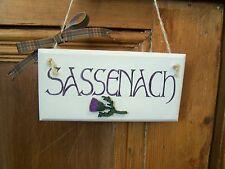 Handmade Sassenach Outlander inspired wooden door sign plaque
