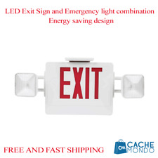 LED Exit Sign and Emergency light combination Energy saving design 120 / 277VAC