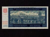 Bohemia & Moravia:P-7s,100 Kronen/Korun,1940 * Specimen * Prague * UNC *