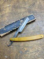 Vintage Dubl Duck Straight Shaving Razor - Bresduck Solingen Germany