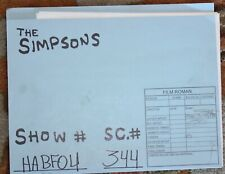 RARE THE SIMPSONS TV SHOW ORIGINAL STORYBOARDS SET USED SKETCHES DRAWING 53