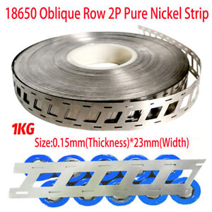 1KG 0.15x23mm Oblique Row 2P Pure Nickel Strip For Battery Pack Production