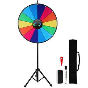 "Voilamart 24"" Prize Wheel 14 Slots Dry Erase Wheel of Fortune Spinning Wheel for"
