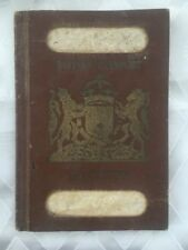 1944 OLD JEWISH PALESTINE ERETZ ISRAEL BRITISH PASSPORT BY PALMACH OFFICER