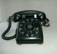 Vintage Western Electric Bell System Rotary Dial Phone Black Desk Telephone USA