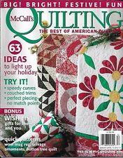 McCalls Quilting magazine Christmas festive projects Gift ideas Selvage ornament