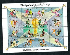 1984- Libya - Libye - Soccer - Football - Minisheet - Mini feuillet - MNH**