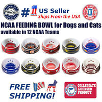 Sporty K9 Dog Bowl. - NCAA Licensed Feeding/Watering Bowl for  Dogs and Cats