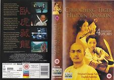 CROUCHING TIGER HIDDEN DRAGON VHS PAL CHOW YUN-FAT,MICHELLE YEOH,ZIYI ZHANG