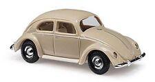 Coche a escala Busch (H0 42713): VW ESCARABAJO CON VENTANA Pretzel 1951 , Beige