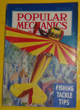 Popular Mechanics June 1936 Upside Down Plane - Ancient Art (Color Section) See!